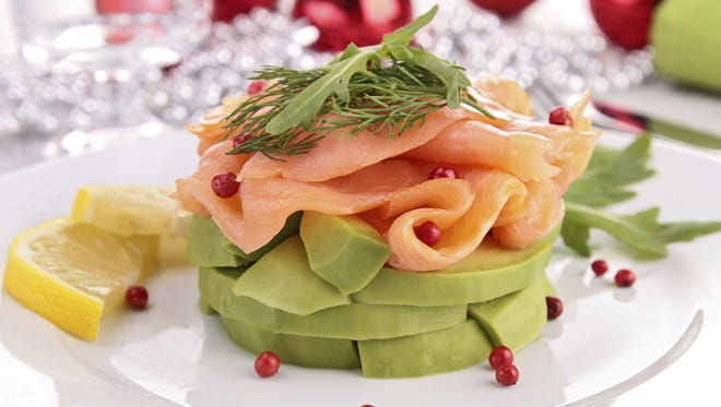 salmon and avocado with christmas decoration$1,800 in Scolari's gift cards is being awarded in the 2014 RGJTaste Holiday Recipe Contest.