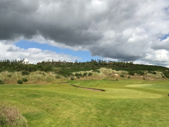 A view of Donald Trump's golf course in Balmedie, Scotland.