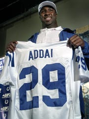 4/30/06 --- Indianapolis Colts first-round draft pick Joseph Addai, a runningback from LSU, Sunday, April 30, 2006, afternoon at the Union Federal Bank Colts Complex. (Matt Kryger / The Star) with Chappell story, File #127304
