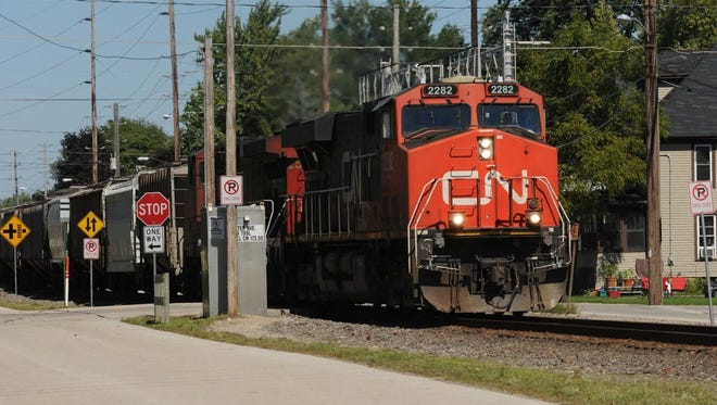 A Canadian National train passes through Oshkosh recently heading south to Fond du Lac and beyond.