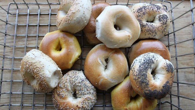 A variety of fresh bagels from Hot Bagel Bakery in Oakhurst, a reader favorite.