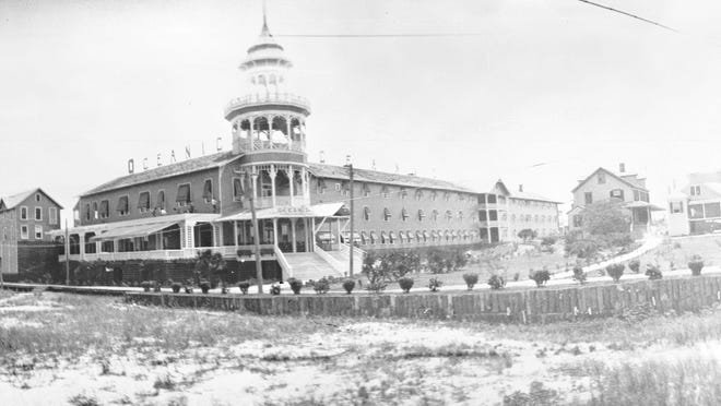 The Oceanic hotel, first built as the Hotel Tarrymore in 1905, was destroyed by the great Wrightsville Beach Fire of 1934.