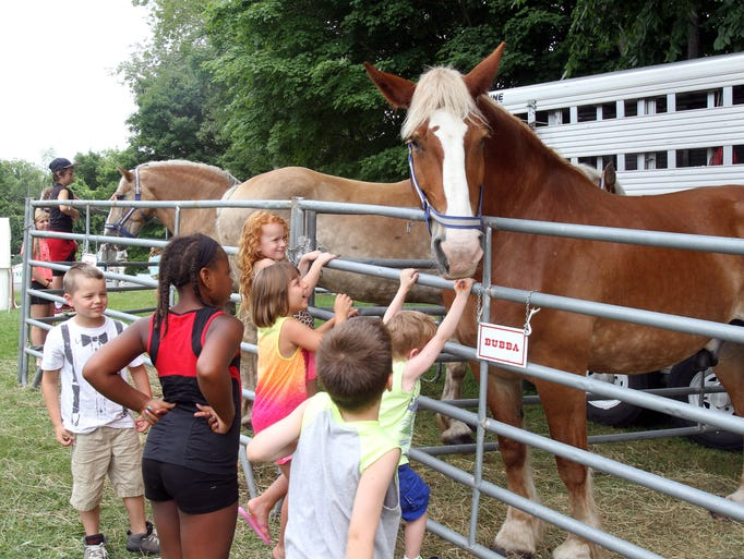 Kids get up close with a horse named Bubba at the annual 4-H Fair  at the Putnam County Veterans Memorial Park, in Kent July 26, 2014.  The fair is sponsored by Cornell Cooperative Extension Putnam County.