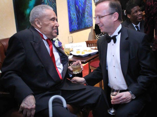 Gov. Jack Markell after honoring late Wilmington activist and mentor James H. Gilliam Sr. at the Grand Gala in 2010.