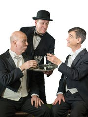 "You could have your very own Jeeves. Here Charlie-Flynn McIver, Michael MacCauley and Scott Treadway star in ""Jeeves Intervenes"" at NC Stage Co."
