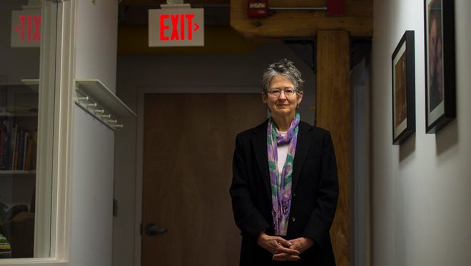 Suzi Wizowaty, executive director of Vermonters for Criminal Justice Reform, at her office in Burlington on Wednesday, January 25, 2017.