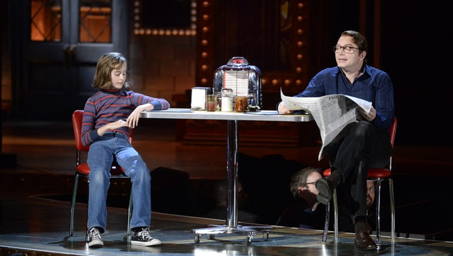 The cast of 'Fun Home' performs at the 69th annual Tony Awards at Radio City Music Hall on Sunday.
