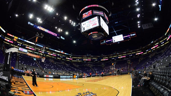 A general view of the US Airways Center, home of the Phoenix Suns.