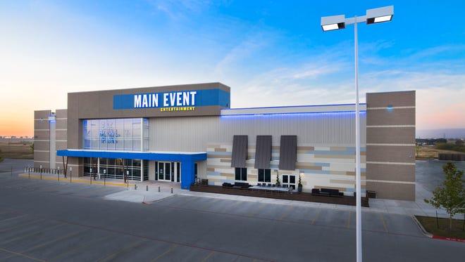 Exterior of an existing Main Event Entertainment center.