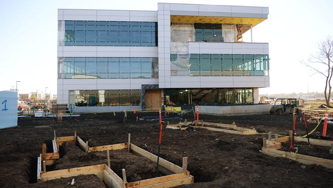 The corporate headquarters building at Woodward's Lincoln campus will get its first occupants in February.