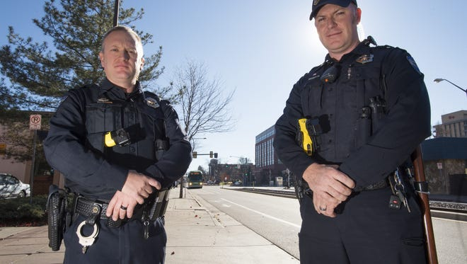 Todd Hopkins and Josh Golden are two officers with District One of Fort Collins Police Services. District One is gaining four officers to patrol Old Town despite a decrease of crime in the area.