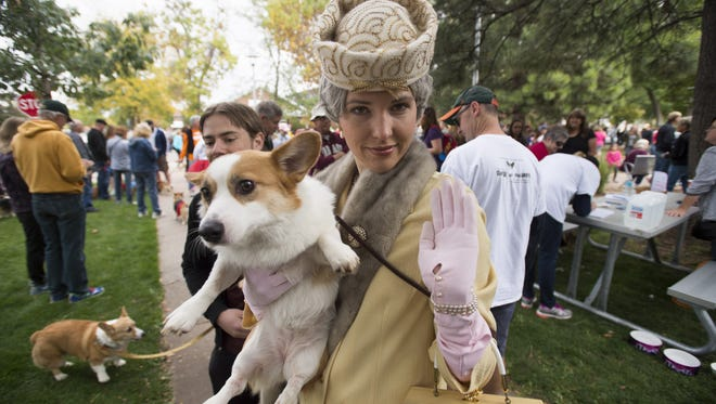 Tour de Corgi brought corgi owners and their dogs to Library Park in costume Saturday, October 3, 2015.