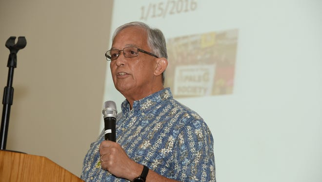 University of Guam President Robert Underwood spoke to UOG leadership and faculty on Tuesday, Jan. 19, inside the College of Liberal Arts and Social Sciences' Lecture Hall.
