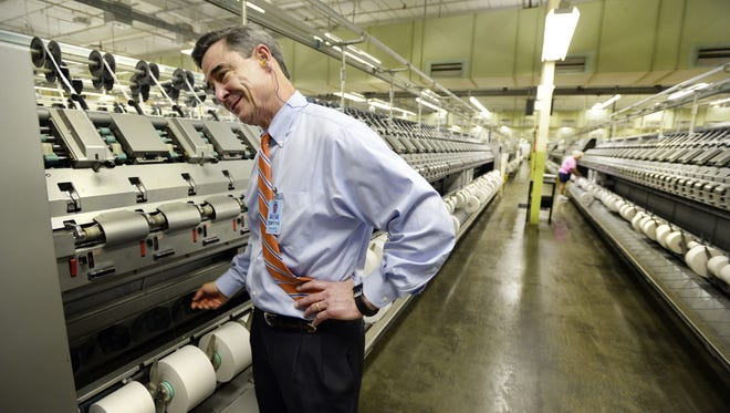 Smyth McKissick, III, chief executive of Alice Manufacturing, at his company's Ellison Plant in Easley.