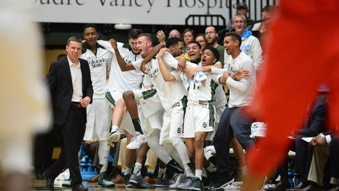 CSU assistant coach Ross Hodge, shown on the sideline during a Feb. 23 win over New Mexico, was named one of the top  10 recruiters at a school outside of the six power conferences Wednesday by ESPN.