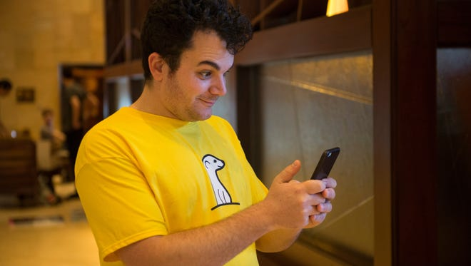 SXSW 2015- Ben Rubin, CEO and Founder of Meerkat, the live video streaming service that piggybacks off of Twitter, during a session