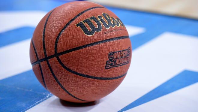 The official NCAA Tournament basketball.
