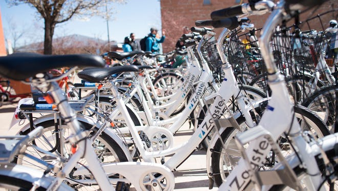 The new Fort Collins bicycle share program provides 79 bikes at 13 stations around Fort Collins including the Gardens on Spring Creek and the Old Town transit center.