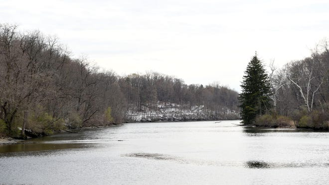 A view of the Wappinger Creek  south of the Village of Wappingers Falls on Wednesday.