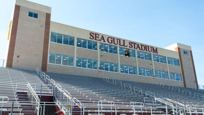 The new Sea Gull Stadium at Salisbury University.