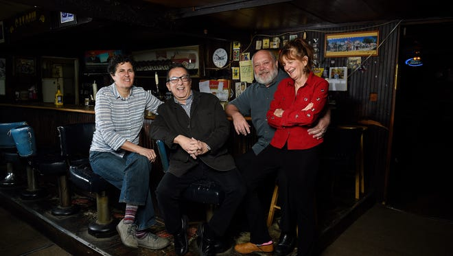 Margo McCormack, Rick Bolsom, Randy Rayburn and Deb Paquette pose at Brown Diner representing Nashville's restaurant old guard. Bolsom and Rayburn were founding members of the Nashville Originals.
