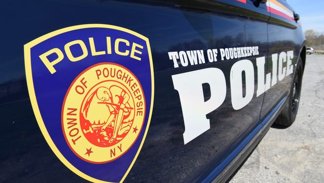 A Poughkeepsie town police cruiser outside  Police Headquarters.