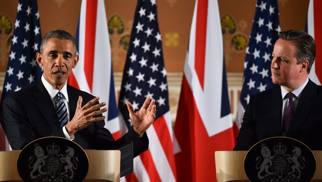 President Obama and British Prime Minister David Cameron