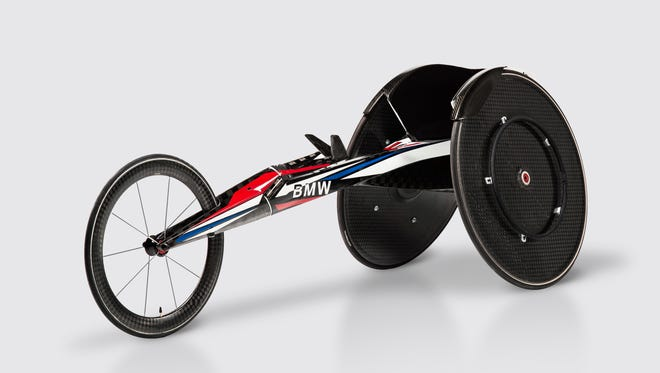 BMW has designed aerodynamically efficient, carbon-fiber racing wheelchairs for U.S. athletes competing at the Rio Paralympics.