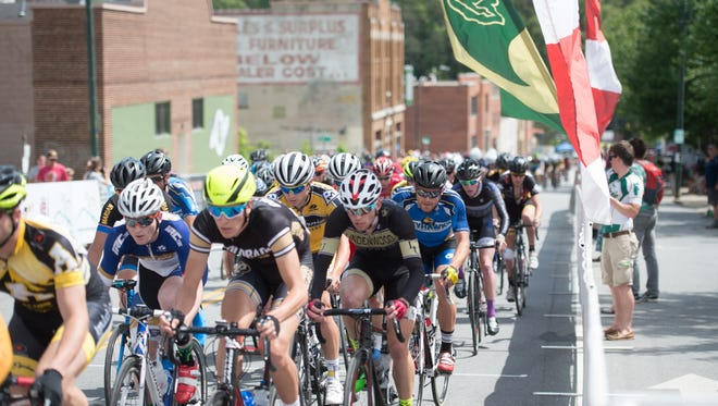 College men compete in the 2015 USA Cycling Collegiate Road National Championships criterium race in downtown. This year the Criterium will be in Burnsville.