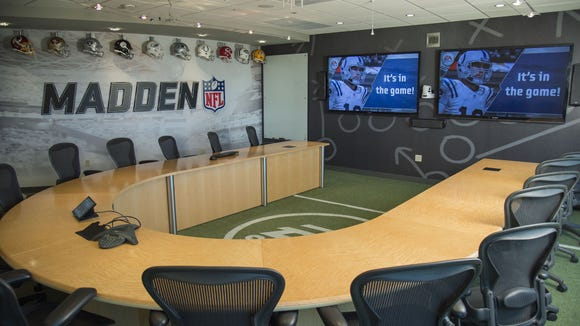 The conference rooms at EA Tiburon in Orlando are lively,
