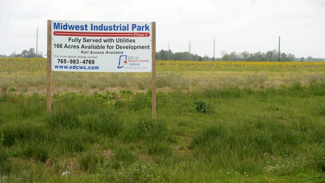 Land near Round Barn Road, Industries Road and Gaar-Jackson Road Tuesday, May 17, 2016, that could be the new home of Heartland Pet Food Manufacturing Indiana LLC in Richmond.