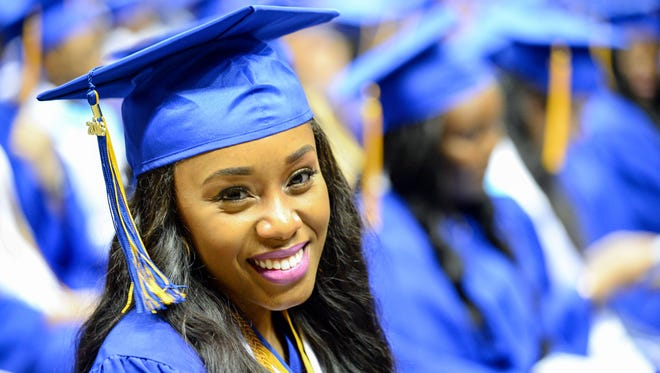 Rickards High School Class of 2016 graduates at their Commencement Ceremony, Saturday May 28, 2016 at the Tucker Civic Center