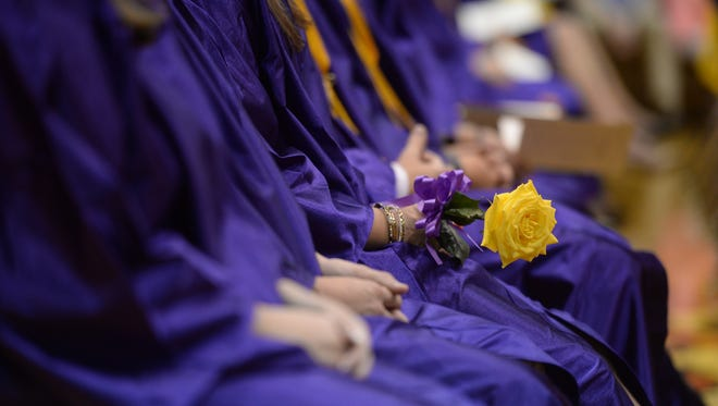 Students graduate during commencement for the class of 2016 at Hagerstown Junior-Senior High School Saturday, June 4, 2016 in Hagerstown.