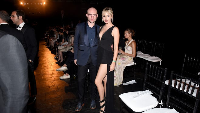 NEW YORK, NY - JUNE 09:  Shane Kidd (L) and  Jazmin Grace Grimaldi attend the 7th Annual amfAR Inspiration Gala at Skylight at Moynihan Station on June 9, 2016 in New York City.  (Photo by Nicholas Hunt/Getty Images)