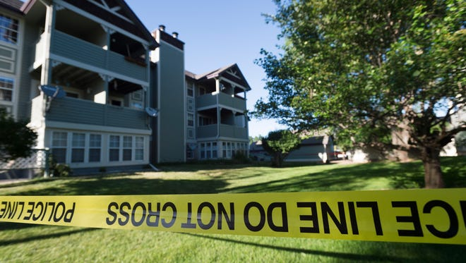 Fort Collins police respond to a shooting at 2828 Silverplume Dr. Wednesday, June 15, 2016. Two victims were transported to the Medical Center of the Rockies with injuries.