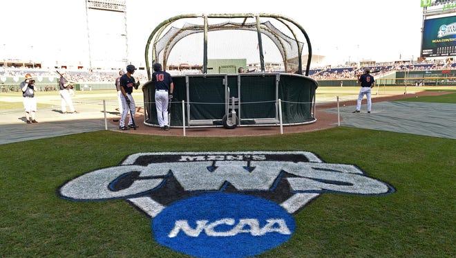 The College World Series at TD Ameritrade Park in Omaha, Nebraska.