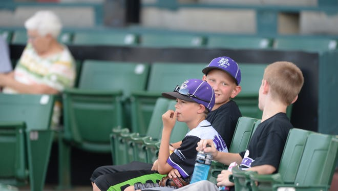 Fans settle in for Richmond Jazz and the Southern Ohio Cooperheads baseball game on John Cate Field at McBride Stadium July 8.