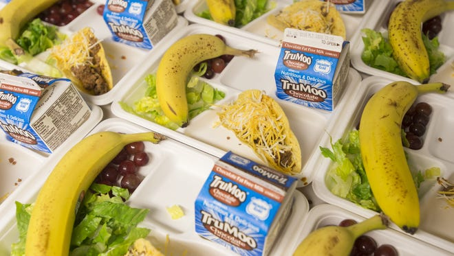 Food Bank for Larimer County Kids Cafe lunches are lined up for kids at the Boys & Girls Club of Larimer County Tuesday, July 19, 2016.