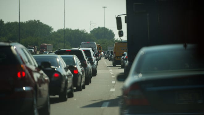 Traffic was at a near standstill for much of Monday morning on I-95 outside Philadelphia.