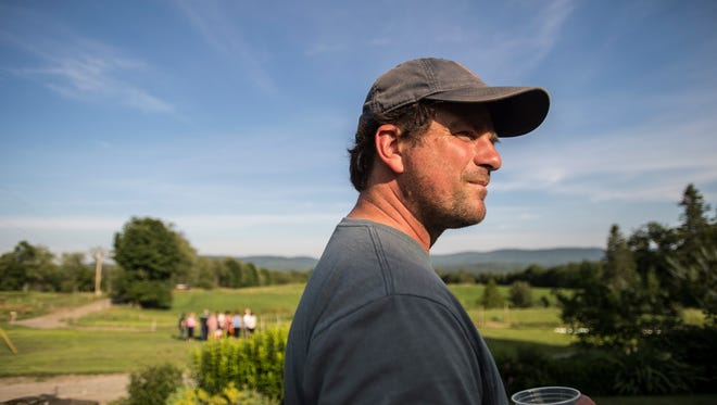 Mateo Kehler, who founded Jasper Hill Farm with his brother, Andy Kehler, at the farm in Greensboro.