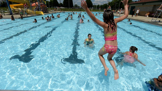 Swimmers enjoy Cordell Municipal Pool on Richmond's west side.