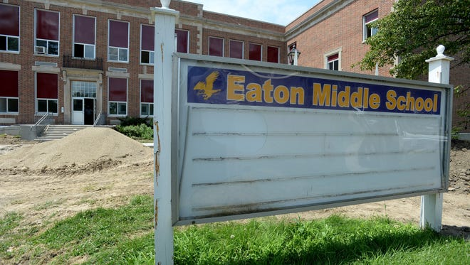 Home is The Foundation is converting the former Eaton High School building into apartments. Here is a tour of the work as of Friday, July 29, 2016 in Eaton, Ohio.