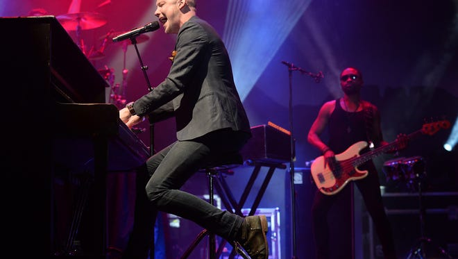 The Fray plays the Mountain stage at NewWestFest on Saturday, August 13, 2016.