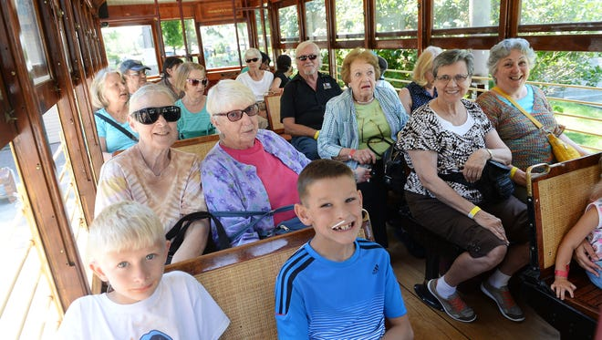 The Senior Center provided free trolley rides at their annual Picnic at the Park on Wednesday, August 17, 2016.