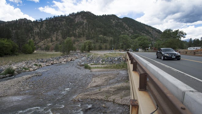 The North Fork of the Big Thompson River flows into the main stem in Drake on Aug. 11, 2016.