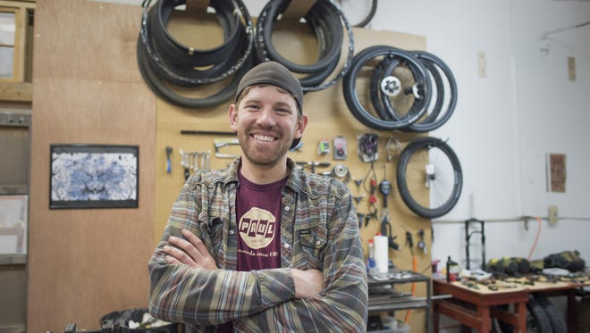 Todd Heath, founder and owner of Moonmen, produces custom bikes for riders around the world using titanium frames.