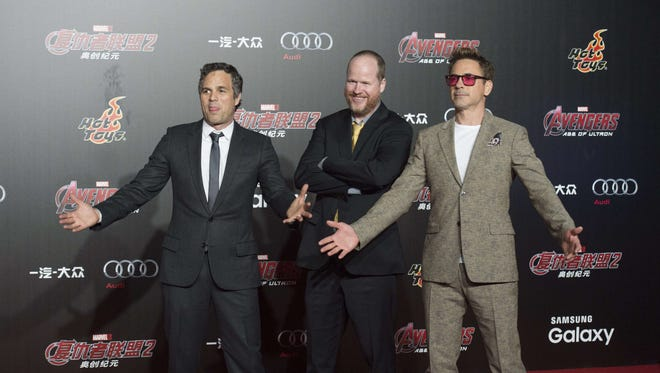 Mark Ruffalo, Joss Whedon and Robert Downey Jr.