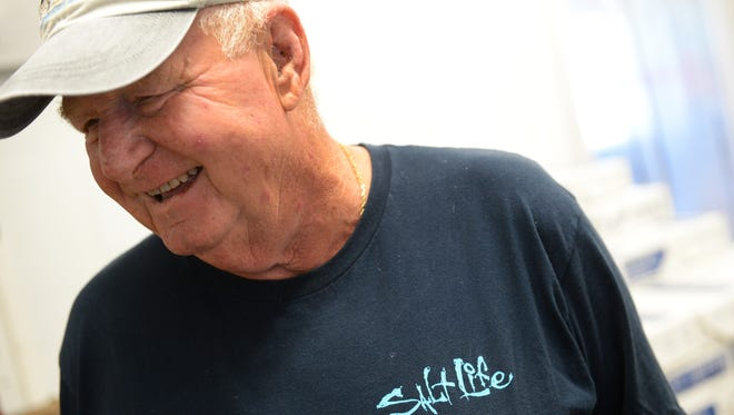 Mike McGee talks about working in the seafood industry at Chincoteague Shellfish Farms on Chincoteague, Va. on Monday, Sept. 23, 2016. The company has been suplying oysters and clams to the Chincoteague Oyster Festival for over 40 years.