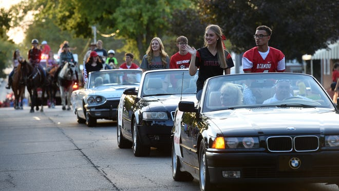 Red Devils take over Main Street Wednesday for the Richmond High School Homecoming Parade.