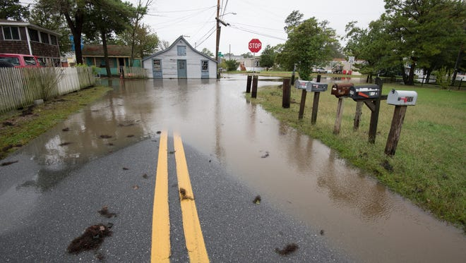 Flooding at Oak Orchard in Millsboro at the intersection of River Road and Orchard Road.